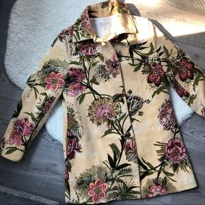 Paul & Joe Made in France Cotton Floral Coat 38